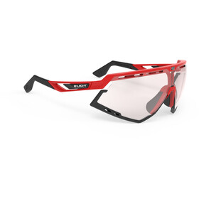 Rudy Project Defender Glasses Fire Red Gloss/Black - ImpactX Photochromic 2 Laser Red